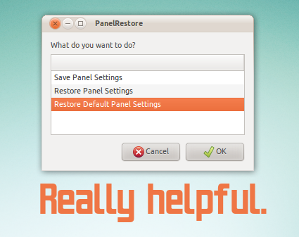 restore gnome panels to defaults