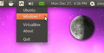 Indicator virtualbox for Ubuntu