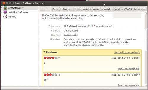 Ubuntu Software Centre adds ratings and reviews