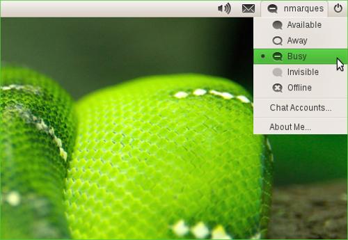 Me Menu in openSUSE