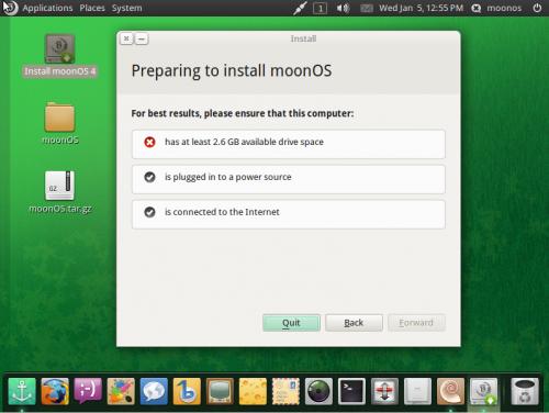 MoonOS 4 installer