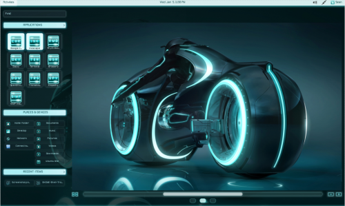 Tron Legacy GNOME Shell theme for Linux