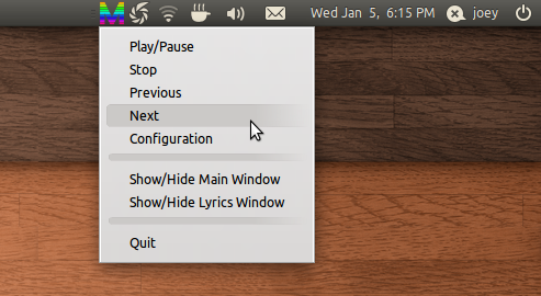 MusicMe for Linux Tray applet