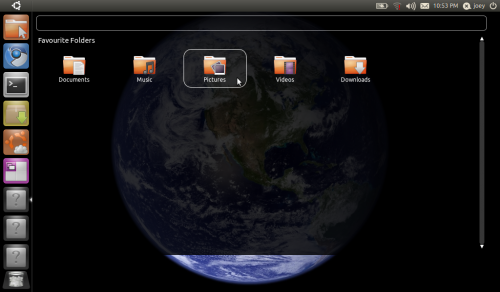 Unity File Places in Ubuntu 11.04