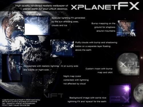 xplanetFX features