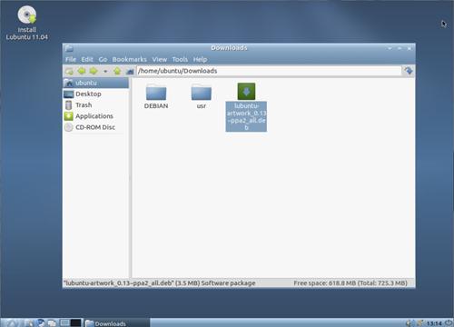Lubuntu 11.04's new theme: OZone