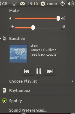 Microphone level in Ubuntu Sound Menu