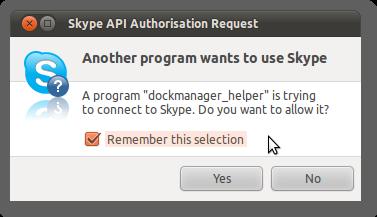 Skype API Authorisation Request