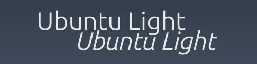 Ubuntu font family 'light'