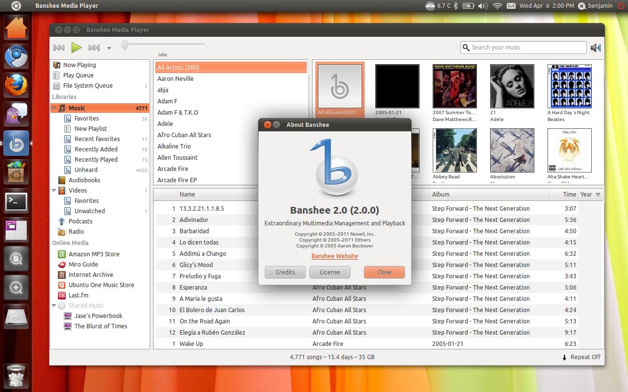 Banshee 2.0 in Ubuntu 11.04