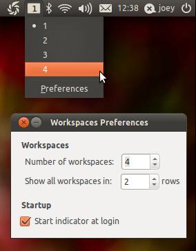 Indicator workspaces in Ubuntu 11.04