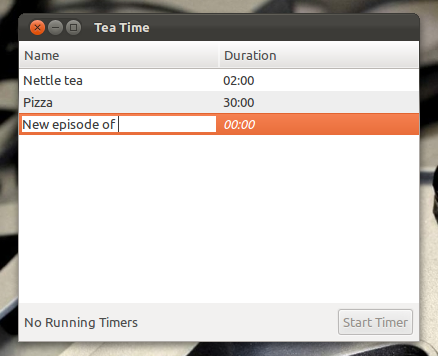 Tea time for Ubuntu lets you set your own alarms