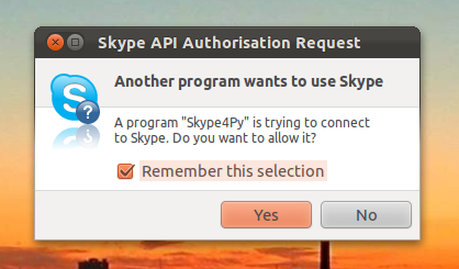 Give Skype Permission