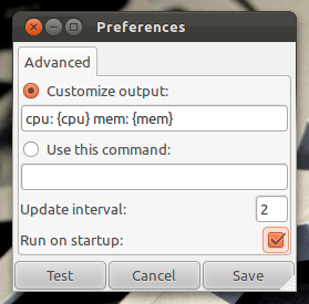 Configure Indicator Sys Monitor