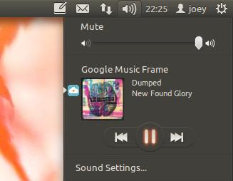 Google Music Sound Menu Integration
