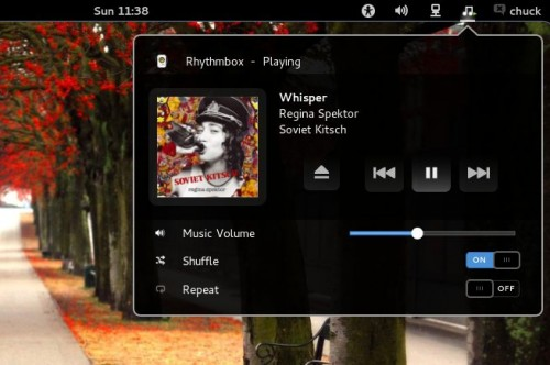music integration plugin for gnome shell