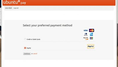 paypal checkout in ubuntu software centre
