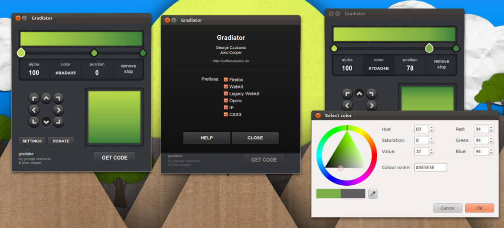 Gradiator on Ubuntu 11.10