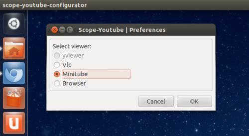 YouTube Scope Options Lets You Choose Minitube