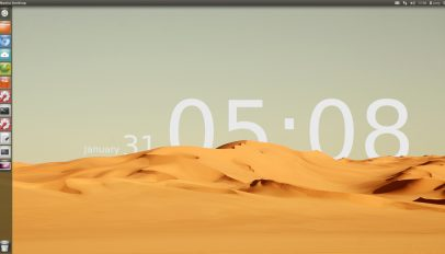 Sands of time wallpaper recreated in Ubuntu