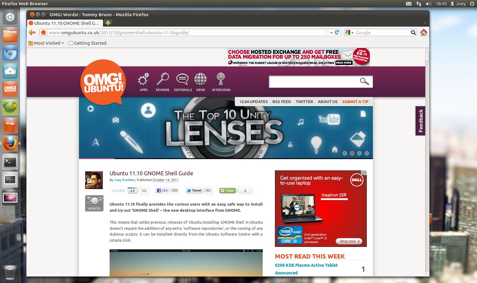 Firefox 10 in Ubuntu 12.04