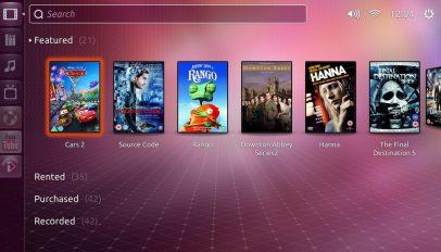 Ubuntu TV home page