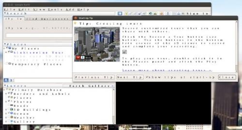 Weird fonts in google earth on Ubuntu