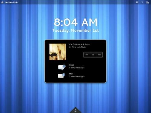 New GNOME Lock Screen