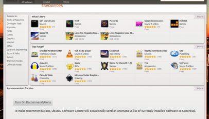 Ubuntu Software Centre App Recommendations