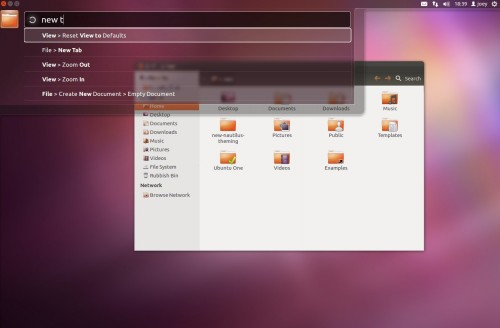 Ubuntu HUD menu feature