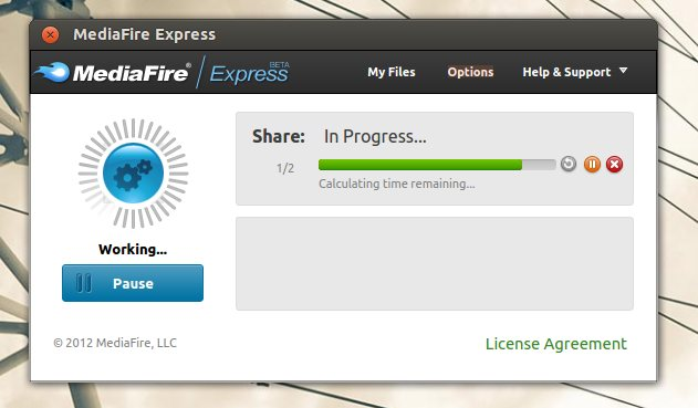 mediafire express linux client at work