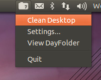 dayfolder menu in Ubuntu 12.04