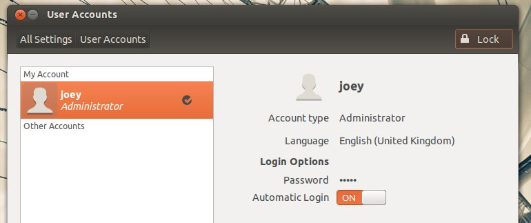 Enabling Auto-login in Ubuntu 12.04