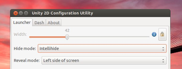 Unity 2D intellihide option is still present