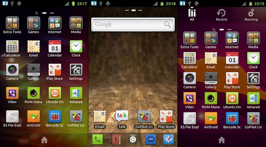 Ubuntu Go launcher Theme screenshots