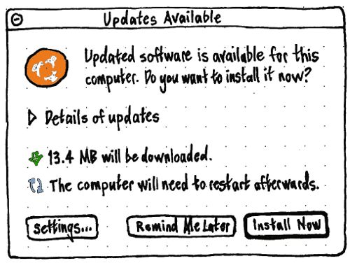 updates available in software updater