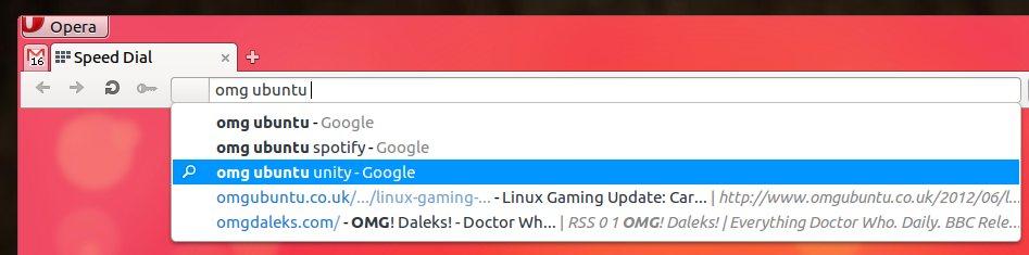Opera 12 URL bar