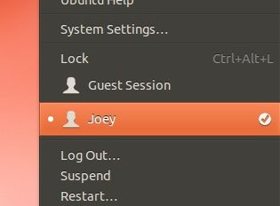 New Session Indicator in Ubuntu 12.10
