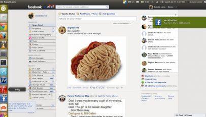 Fogger Facebook App in Ubuntu