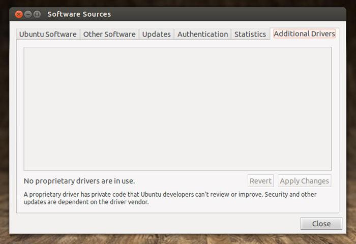 Jockey Driver replacement in Ubuntu 12.10