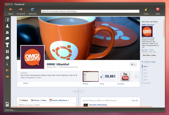 facebook app for Ubuntu