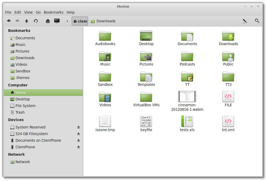 Linux Mint's new file manager Nemo