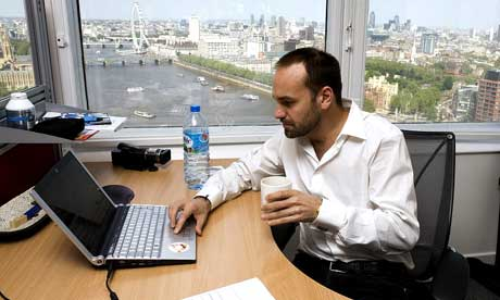 Mark Shuttleworth at work