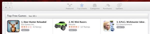 MAc App Store Games Chart