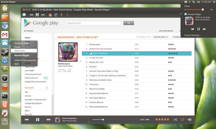 nuvola player in Ubuntu