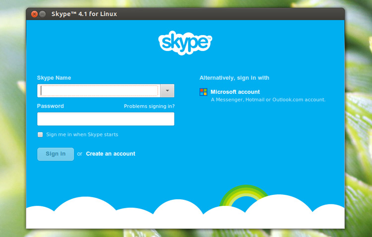 skype 4.1 running in Ubuntu