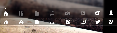 new lens nav icons in 13.04