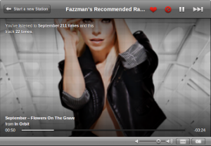 Last.fm can generate personalised music channels