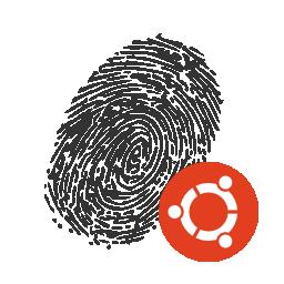 Fingerprint with Ubuntu logo