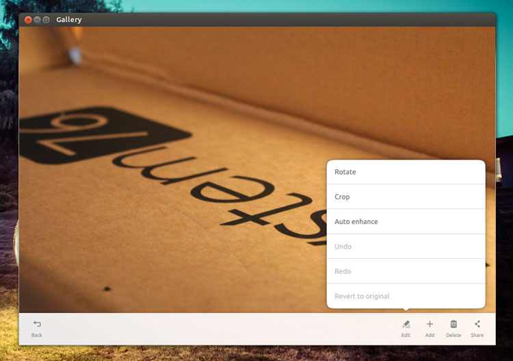 Ubuntu Touch Gallery App